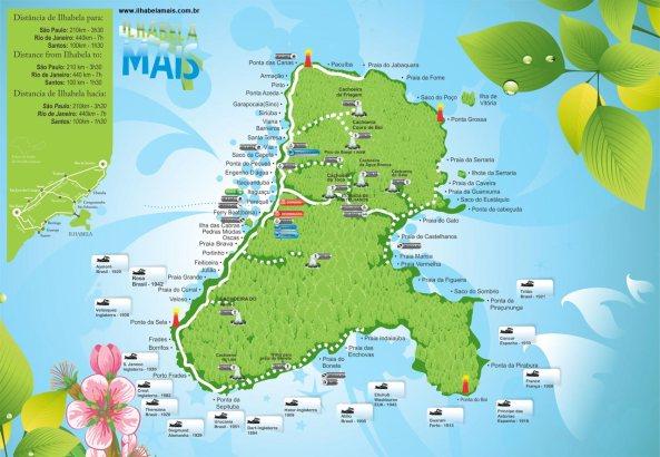 Ilhabela-mapa