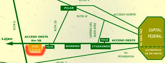 mapa_como_chegar_zoologico_de_lujan